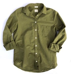 J.Crew • Boy Fit , Army Green Button Down Shirt
